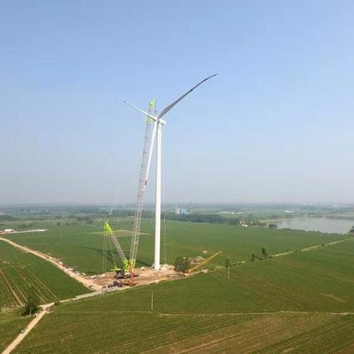 德州风电场吊装照片3