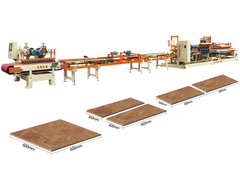 寶陶機械干切機+45度拋光機生產線