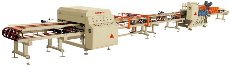寶陶機械設備干切線+雙邊45度磨邊生產線