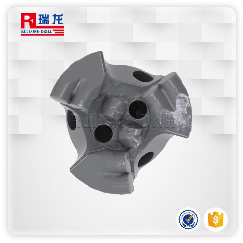 94三翼金刚石内凹pdc复合片钻头 扩孔钻头无芯