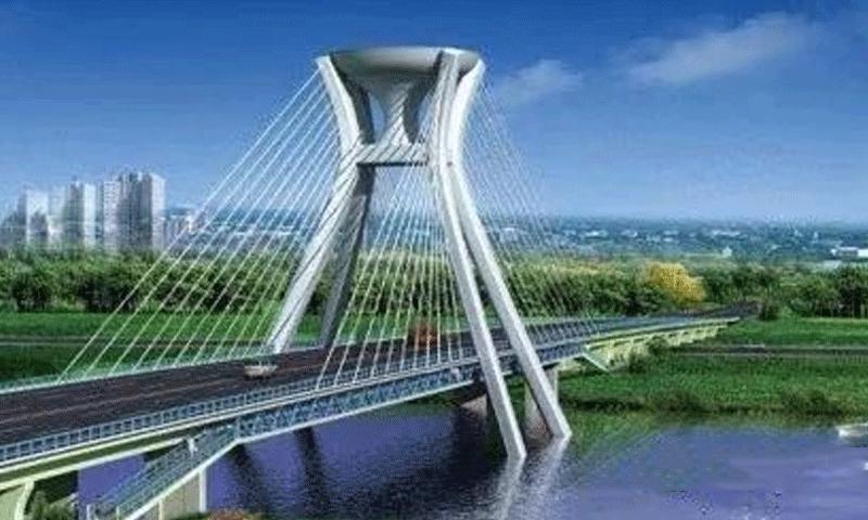 穰城路跨湍河大橋主塔順利封頂,為卓良橋梁業績錦上添花。