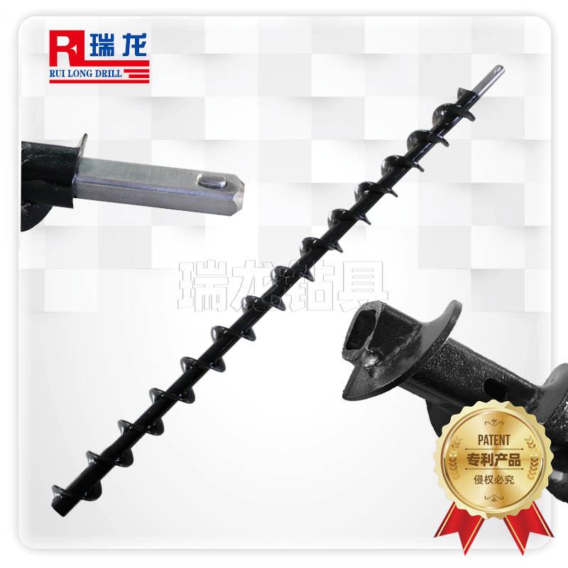 Φ69-25-F18-1000mm长卡豆高强抗拉螺旋钻杆(通水型)