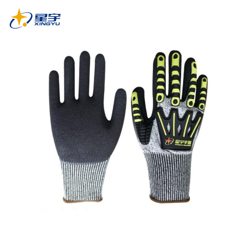 N6821防割防撞TPR丁腈磨砂手套