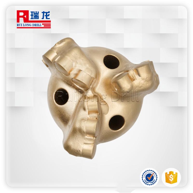 94-N61-5.06三翼金刚石内凹pdc复合片钻头 扩孔无芯弧角钻头