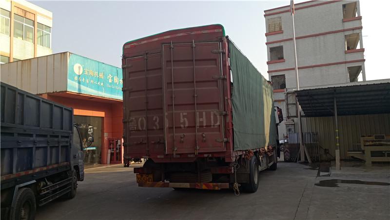 2021年1月數控大板手推機1200型及瓷磚內倒機發貨江蘇溧陽