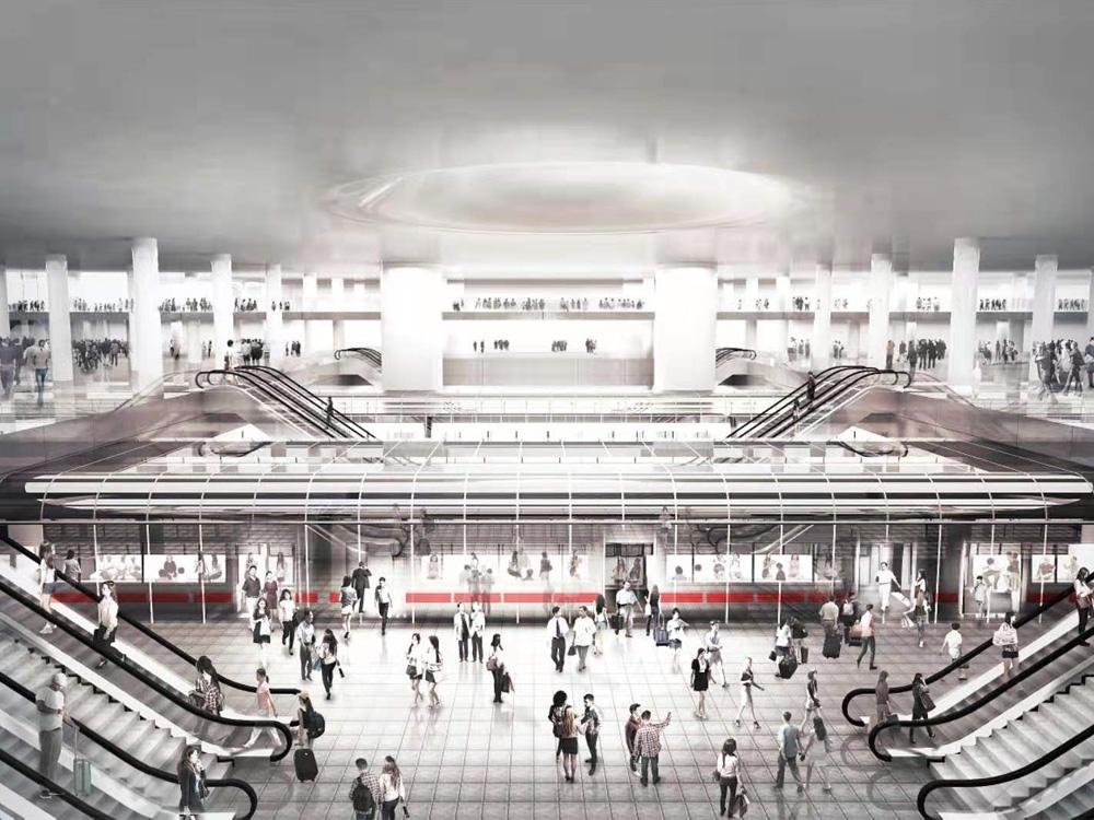 深圳市崗廈北綜合交通樞紐