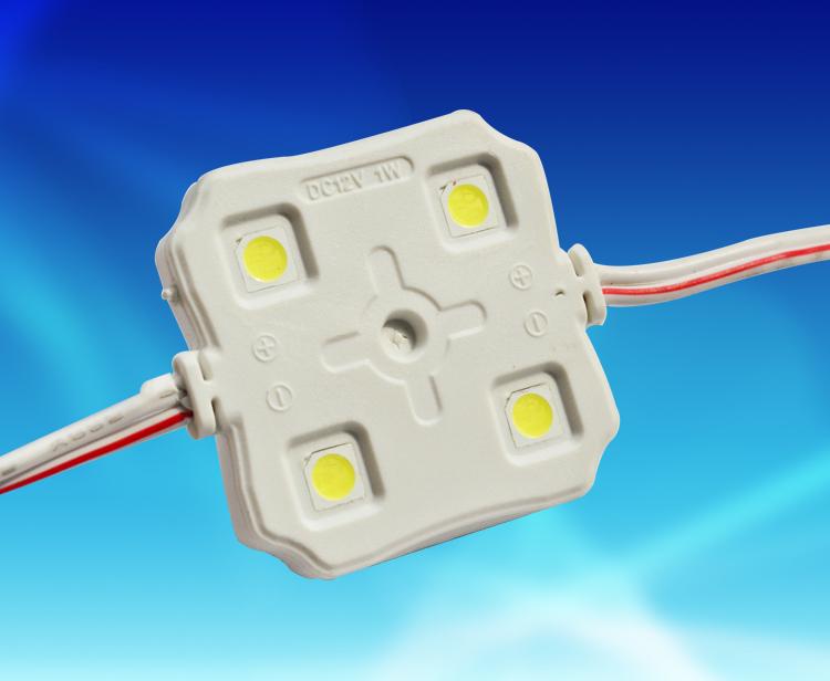 MPW142A,3737四燈方形貼片5050注塑防水模組 DC12V