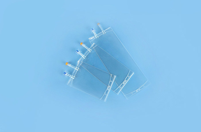 Double tube infusion bag