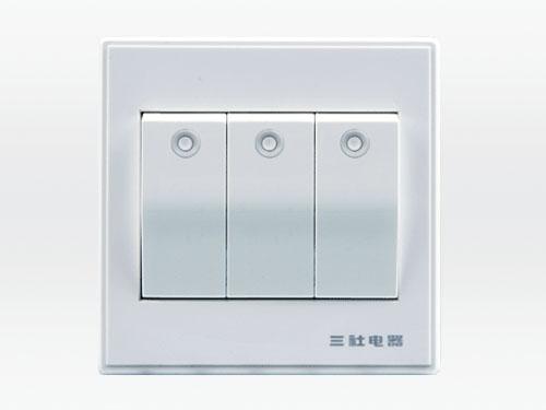 10A 250V~三位單控大按鍵開關
