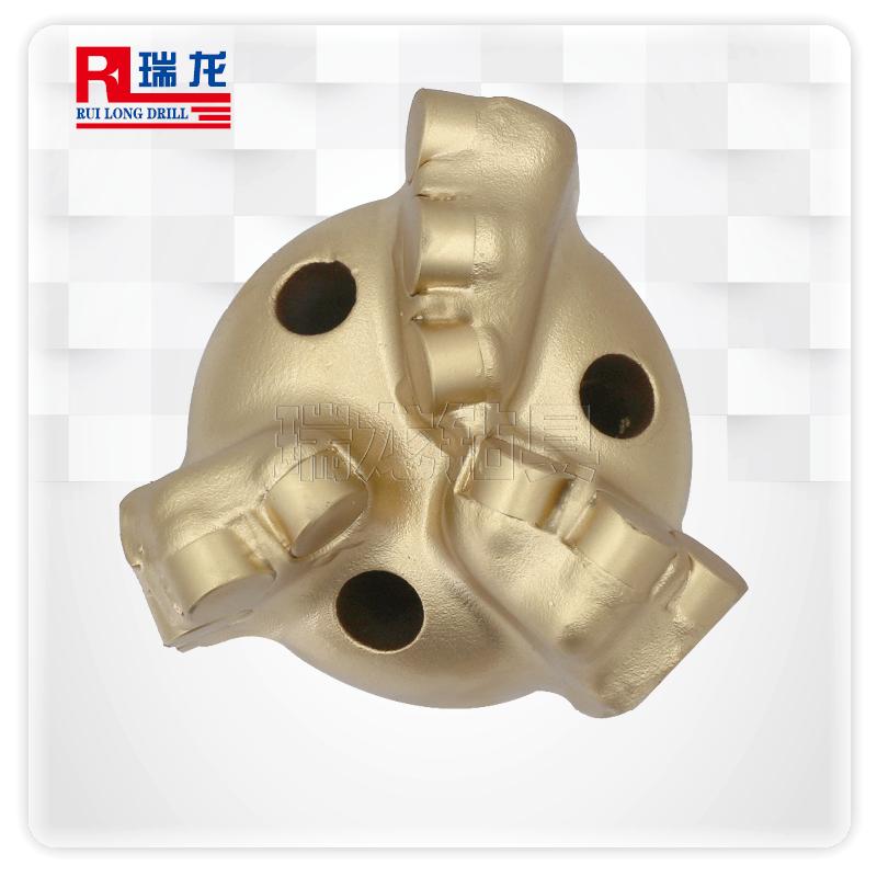 94-N60-5.08弧角钻头打井钻头三翼 四叶内凹金刚石复合片不取芯