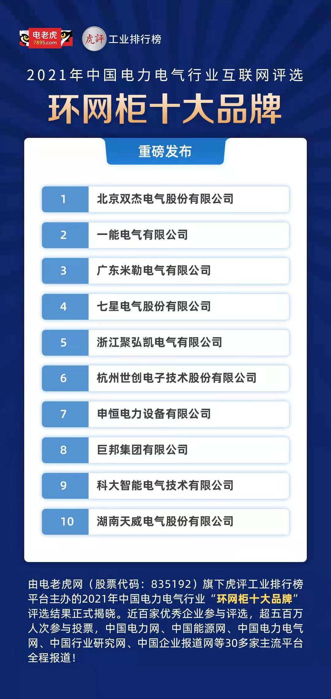 2021年中國電力電氣行業互聯網評選