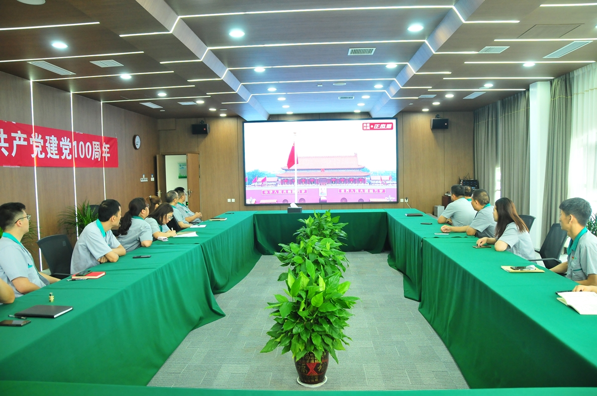 康宁特环保党支部收看庆祝中国共产党成立100周年大会盛况