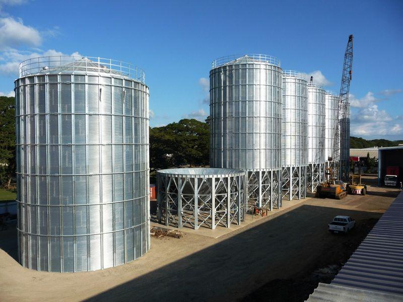 2012年澳大利亞斐濟鋼板倉安裝