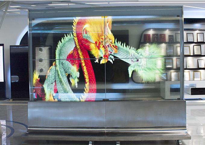 55寸OLED透明拼接屏
