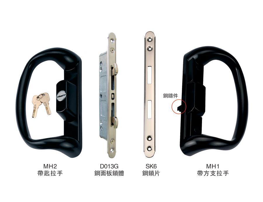 SW90-12 帶匙雙面單推拉對接鎖