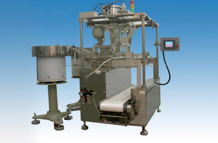 Automatic computerized filling and sealing machine for PVC infusion bag JDGF-D