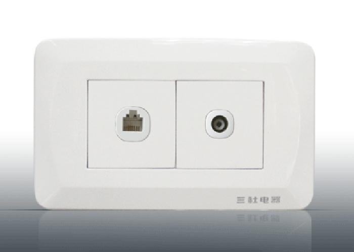 二位電視插座  S-S20