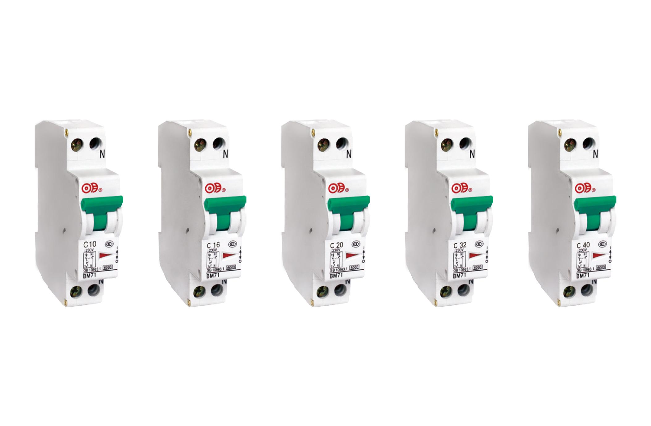 BM71 系列带过电流保护的小型断路器