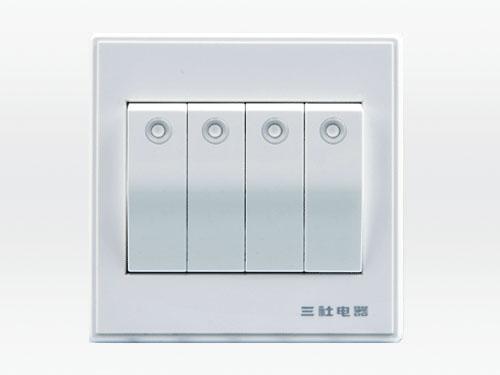 10A 250V~四位單控大按鍵開關