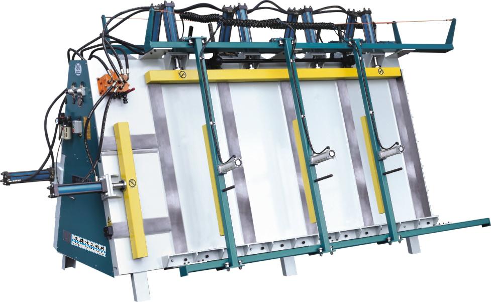雙面液壓框架組框機