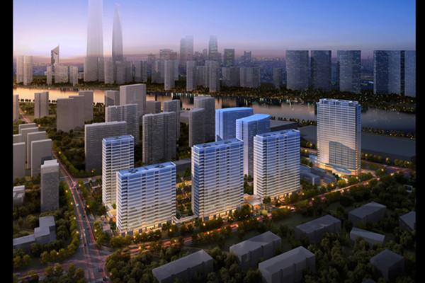 上海黃浦灣幕牆工程