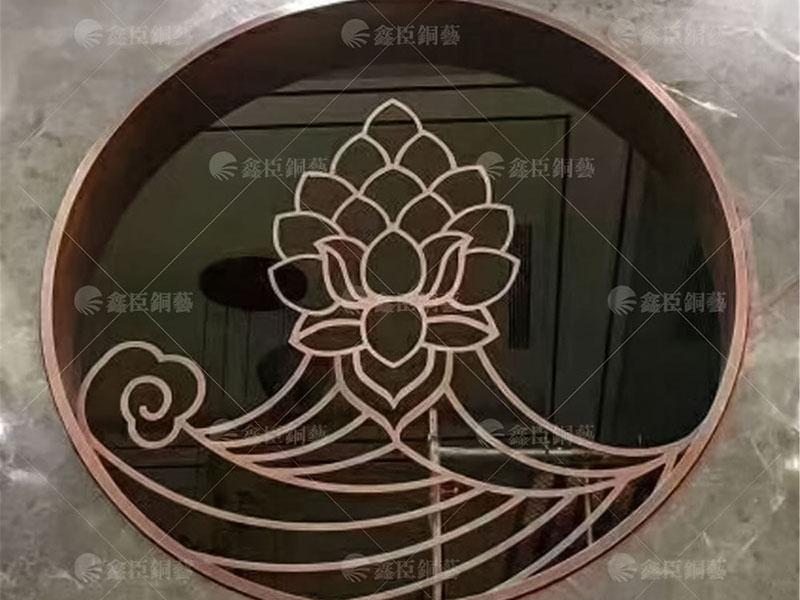 玻璃銅屏風