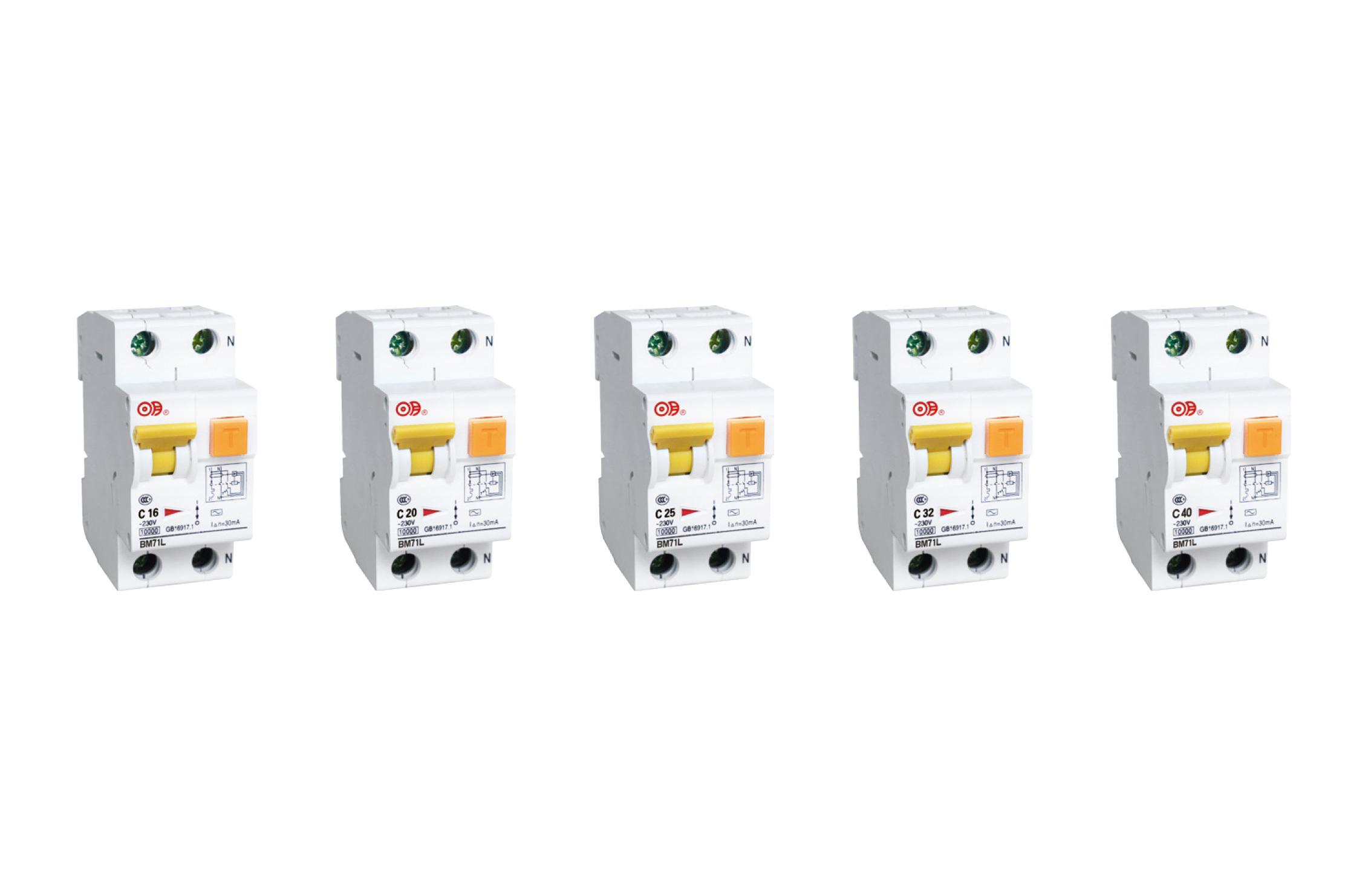 BM71L 系列带过电流保护的剩余电流动作断路器(电子式)