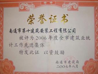 2006年度統計先進集體