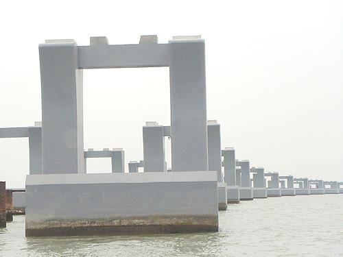 廣深沿江高速(深圳段)機場特大橋水泥橋墩涂裝工程