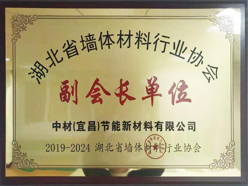 2019-2024年湖北省墻體材料行業協會-副會長單位