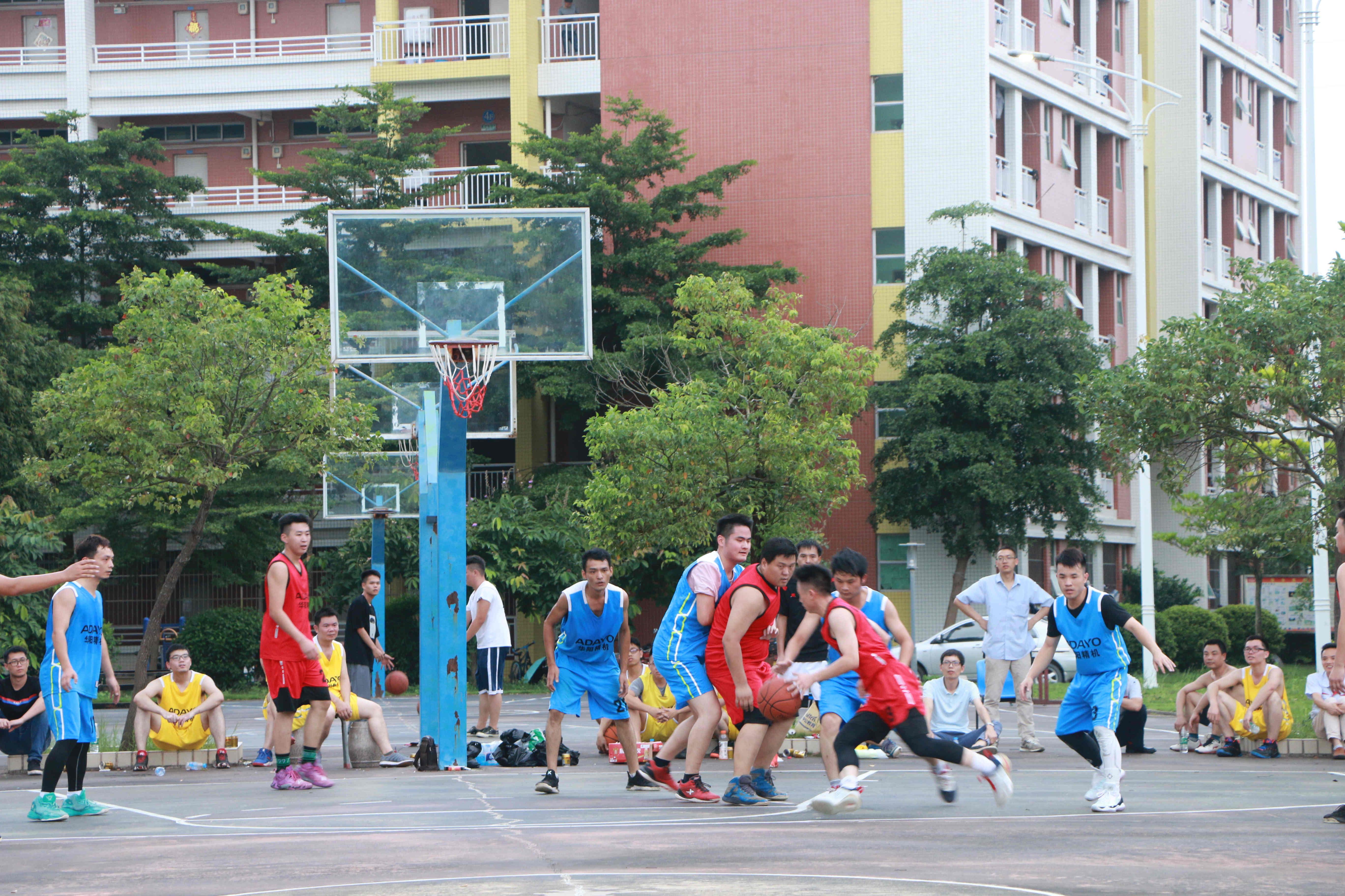 凝心聚力揚風采,華陽精機全員籃球賽舉行
