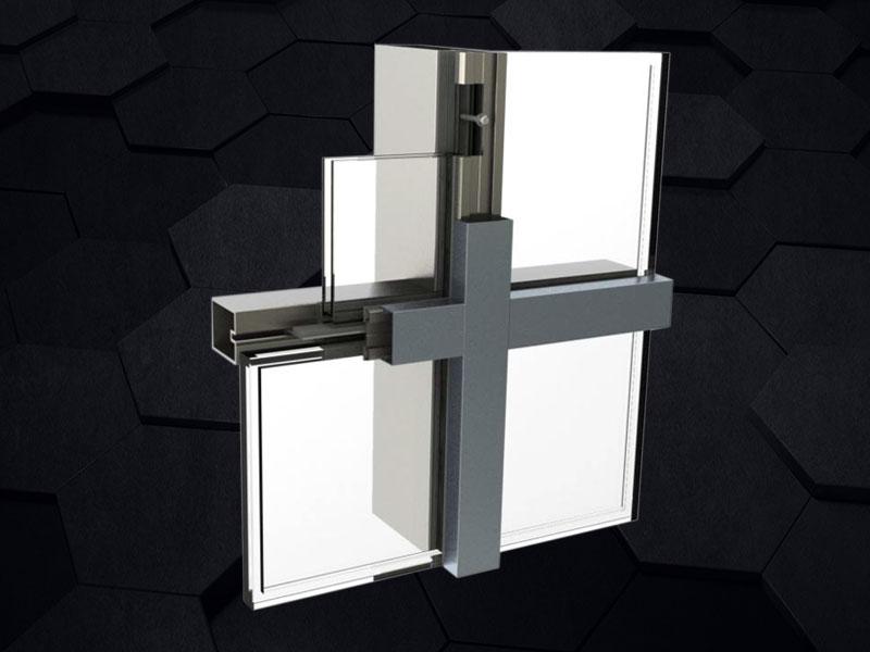 GMQ-60B窄框钢质幕墙系统