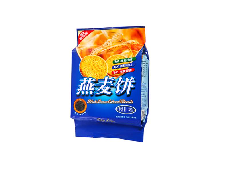 吉利高纤无蔗糖燕麦饼干(黑芝麻口味)