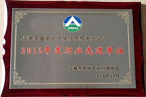 """""""Leading Company in Shanghai Real Estate Industry""""in 2015"""