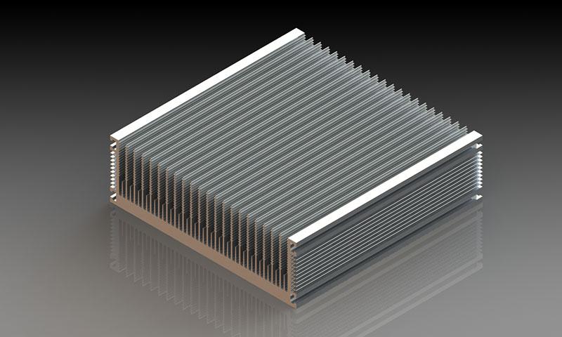 几种铝型材散热器的特点概况:二