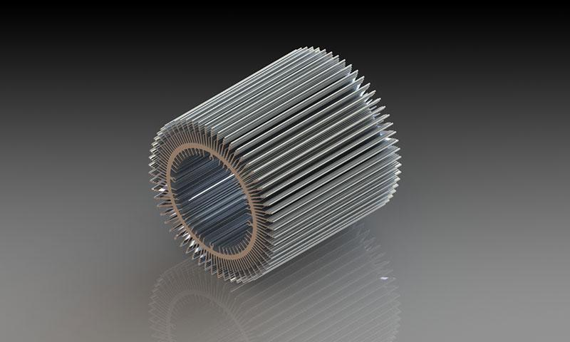 按型材种类区分铝型材散热器:三