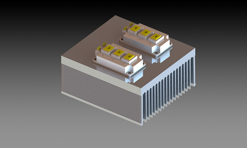 按型材种类区分铝型材散热器:二