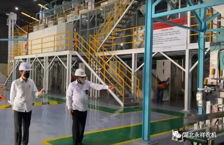 印尼总统,农业部长参观永祥机械